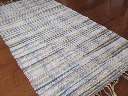 Custom Made Handwoven Cotton Recycled Rag Rug
