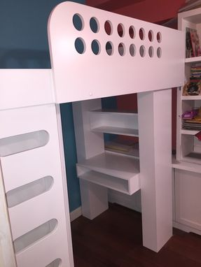 Custom Made Loft Bed With Wardrobe And Desk .