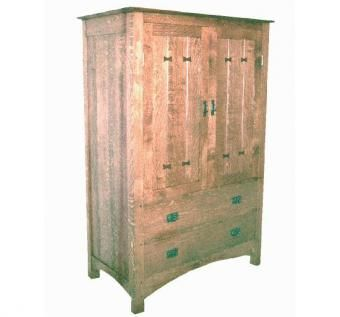 Custom Made Mission Entertainment Center Or Armoire