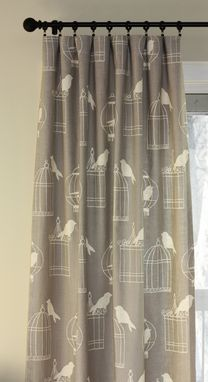 Custom Made Custom Curtain Panels In Lacefield Raja Quill Ikat Brown Blue Citrine 90l X 50w