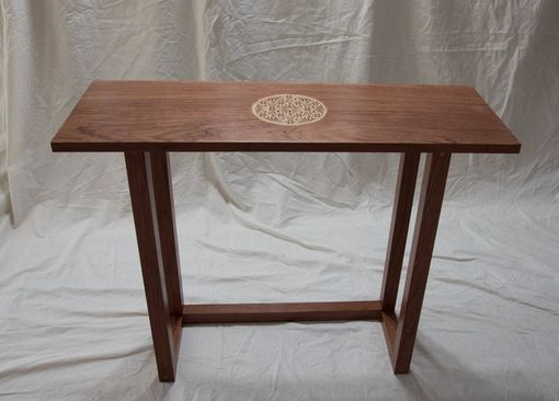 Custom Made Console Table - Bubinga With Handcut Inlay