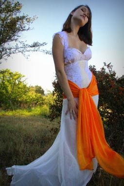 Custom Made Marmalade Mermaid Wedding Gown Custom Couture Made To Fit Any Color Sash And Buttons