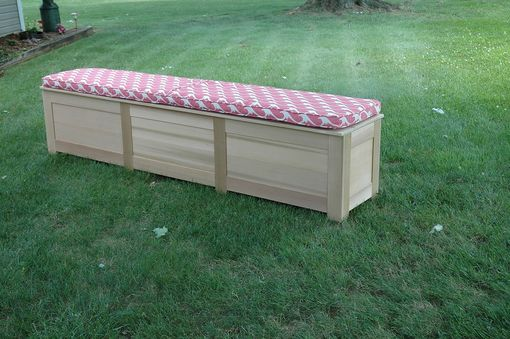 Custom Made Cedar Storage Bench