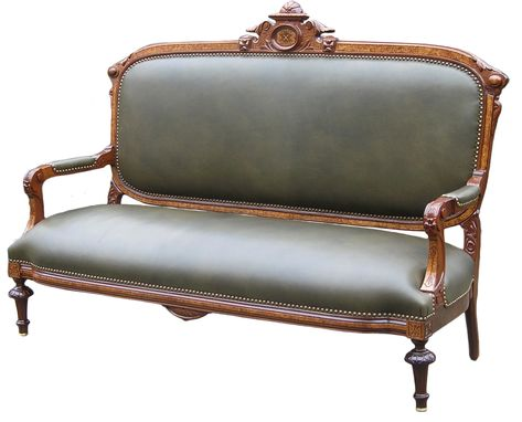 Custom Made American Renaissance Walnut Parlor Sofa