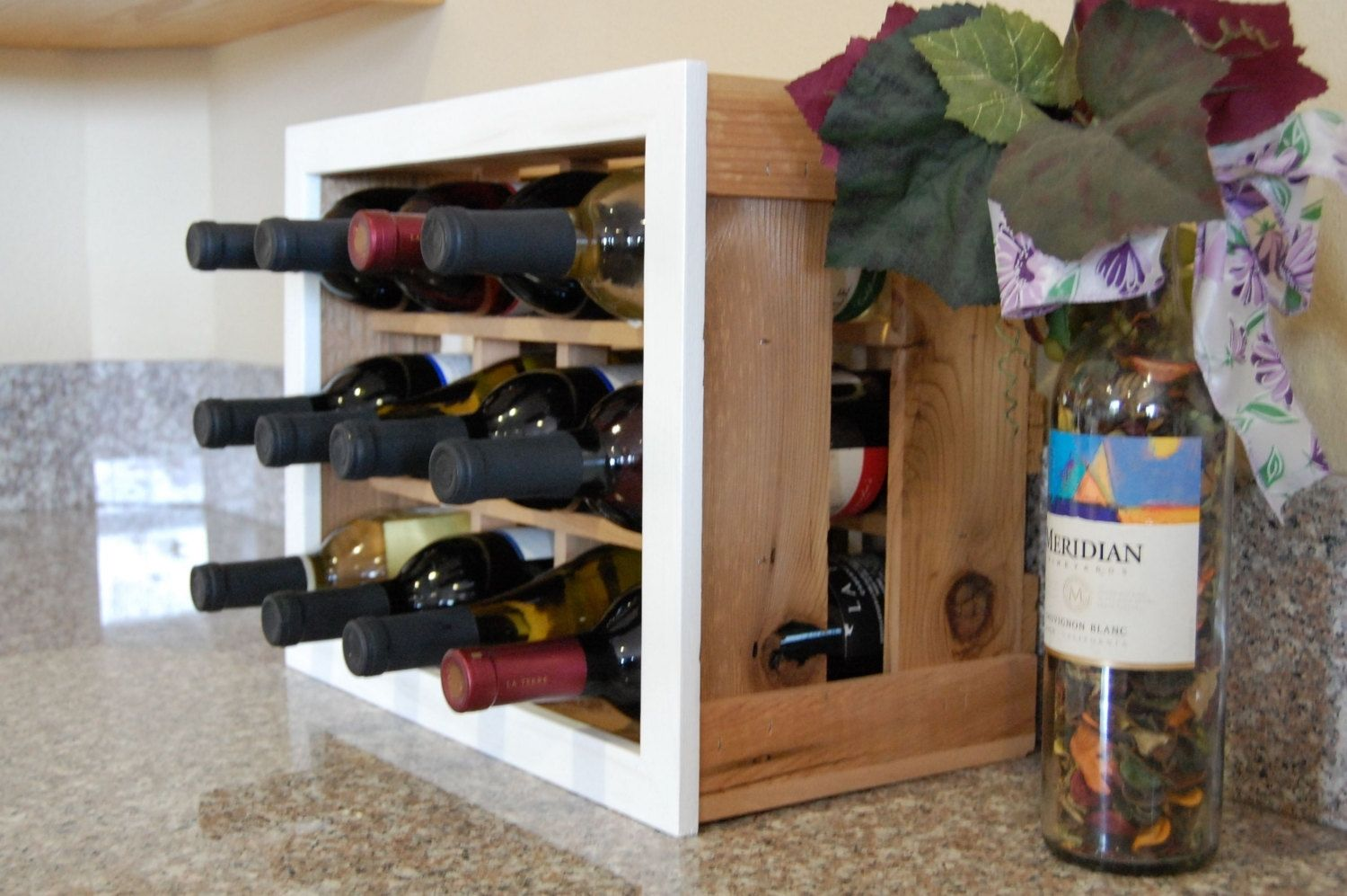 Wine Racks For Home: Hand Made Beautiful Handmade Cedar Wood Wine Rack Perfect