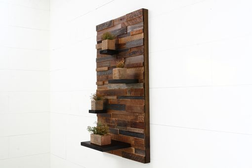 "Custom Made Floating Shelf Artwork Made Of Old Reclaimed Barn Wood. 42"" High X 24"" Wide"