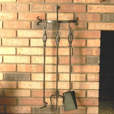 Custom Made Andirons And Grate