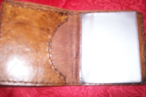 Custom Made Custom Leather Deluxe Wallet With Eagle Design