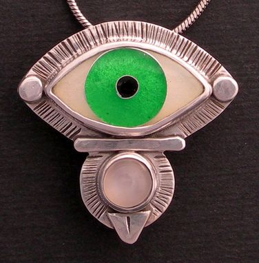 Custom Made Evil Eye Necklace - Green