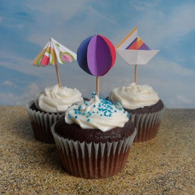 Custom Made Paper Cupcake Toppers