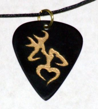 Custom Made Engraved Guitar Pick Necklace