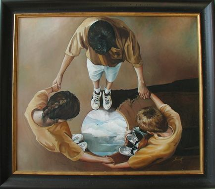 Custom Made To See The Sky, Oil On Canvas, Children