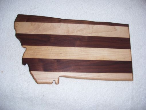Custom Made Montana State Cutting Board Made From Maple & Walnut