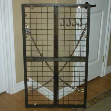 Custom Made Industrial Inspired Pot Rack, Commissioned By A Private Customer.