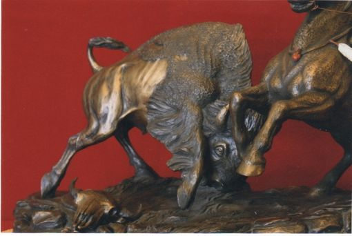 "Custom Made Bronze Sculpture: ""My Buffalo Pony"""