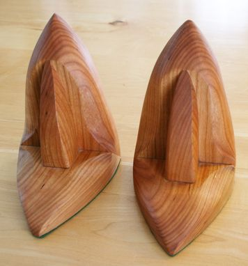 Custom Made Sculpted Sailboat Bookends