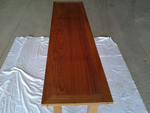 Custom Made Brazillian Cherry Sofa Table