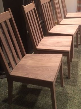 Custom Made Solid Walnut Dining Set
