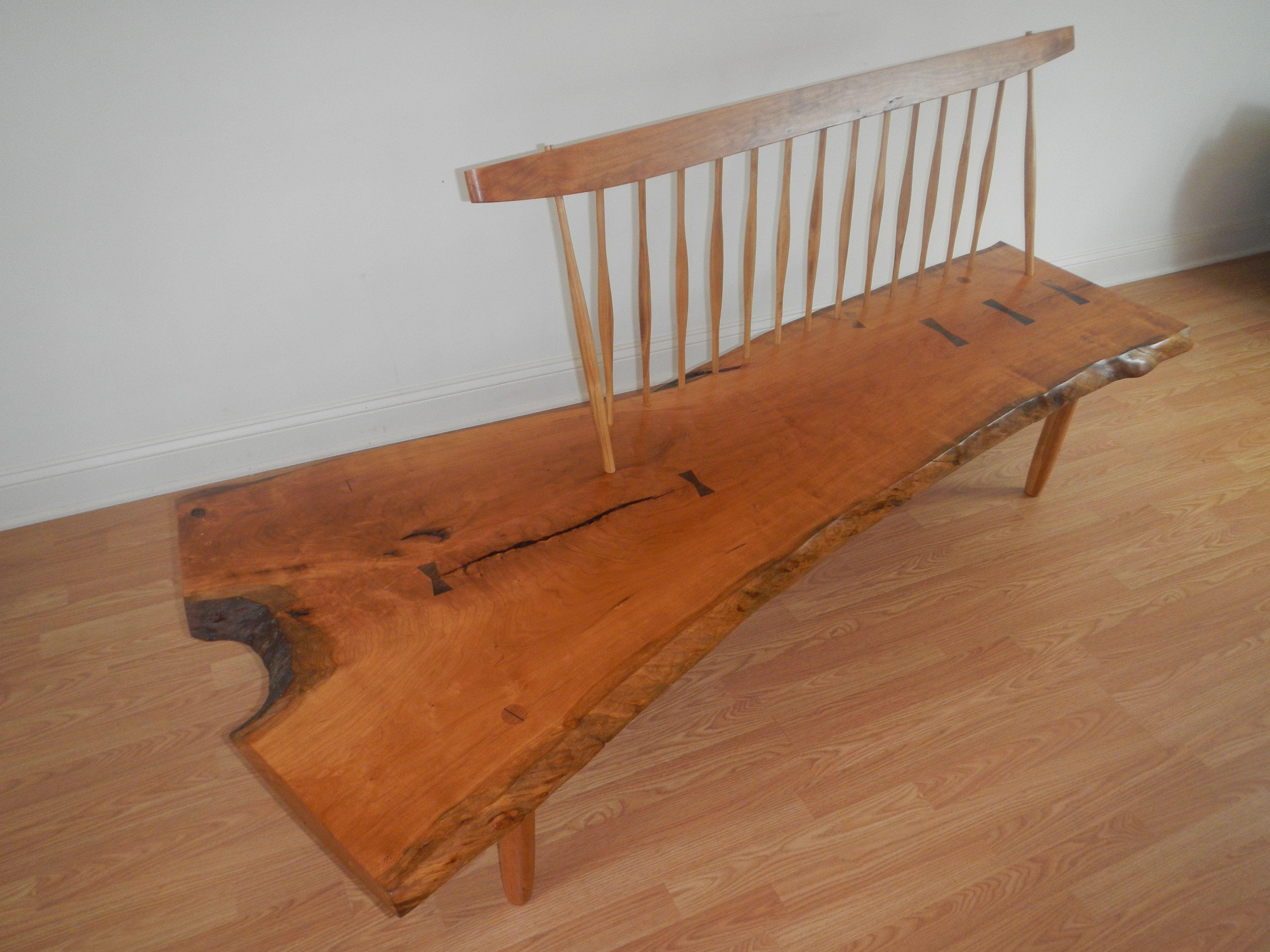 Custom Made Conoid Bench George Nakashima Style Mid Century