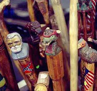 Custom Made Folk Art Walking Sticks