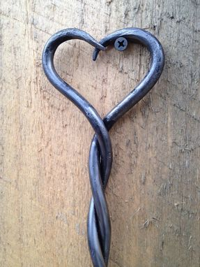 Custom Made Twisted Heart Fire Poker