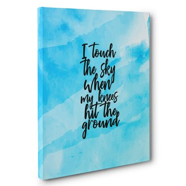 Custom Made I Touch The Sky Motivational Canvas Wall Art