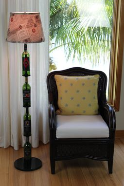 Custom Made Wine Bottle Floor Lamp