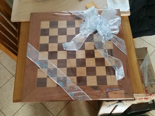 Custom Made Walnut Maple And Cherry Game Board.