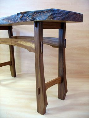Custom Made Live Edge Foyer Table