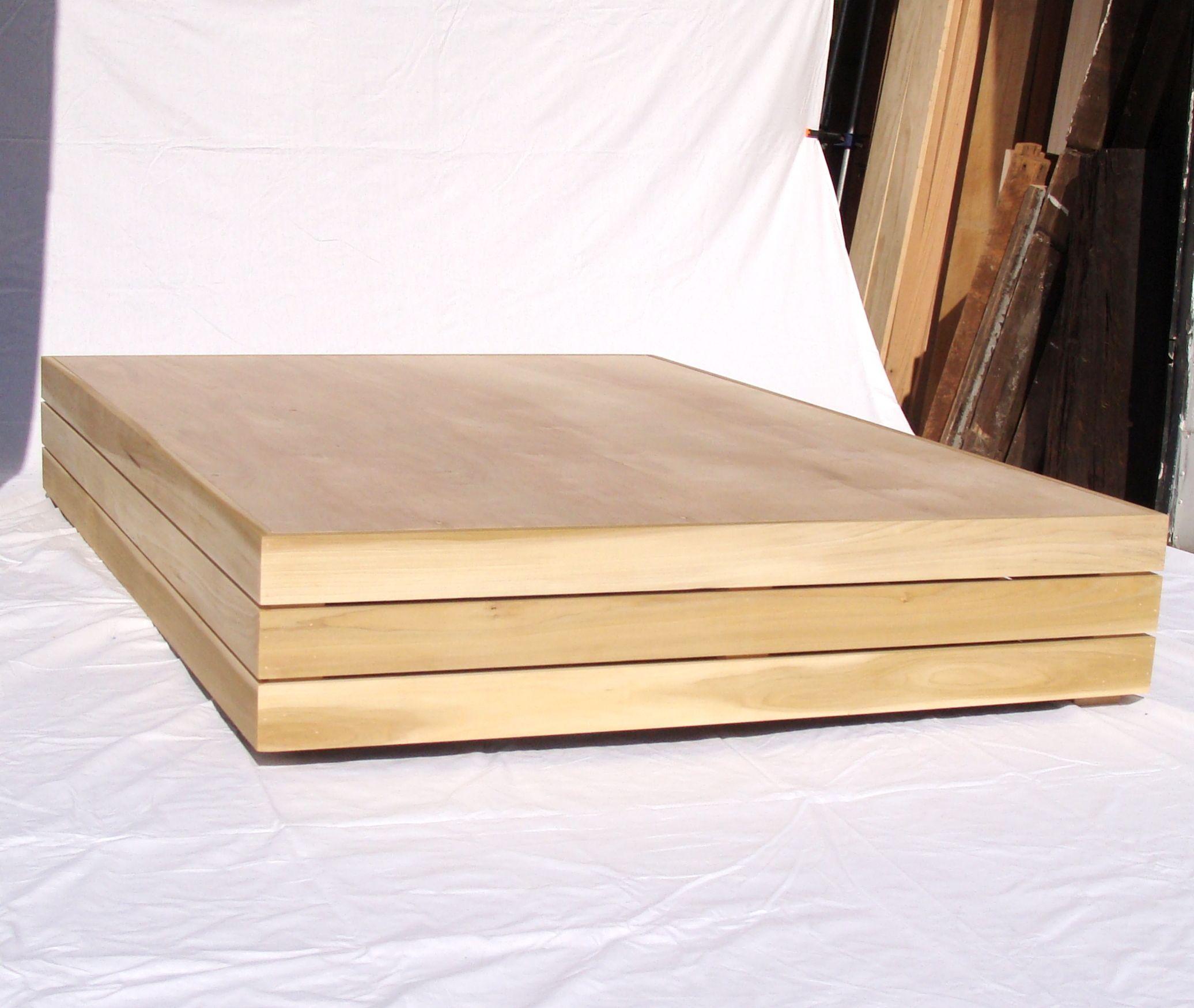 Hand Crafted Floating Platform Bed Frame Poplar Asian Inspired By Custom Timber Llc Custommade Com