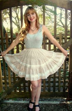 Custom Made Pin Up Circle Skirt With Tiers, Lace And Rick Rack Any Size & Color