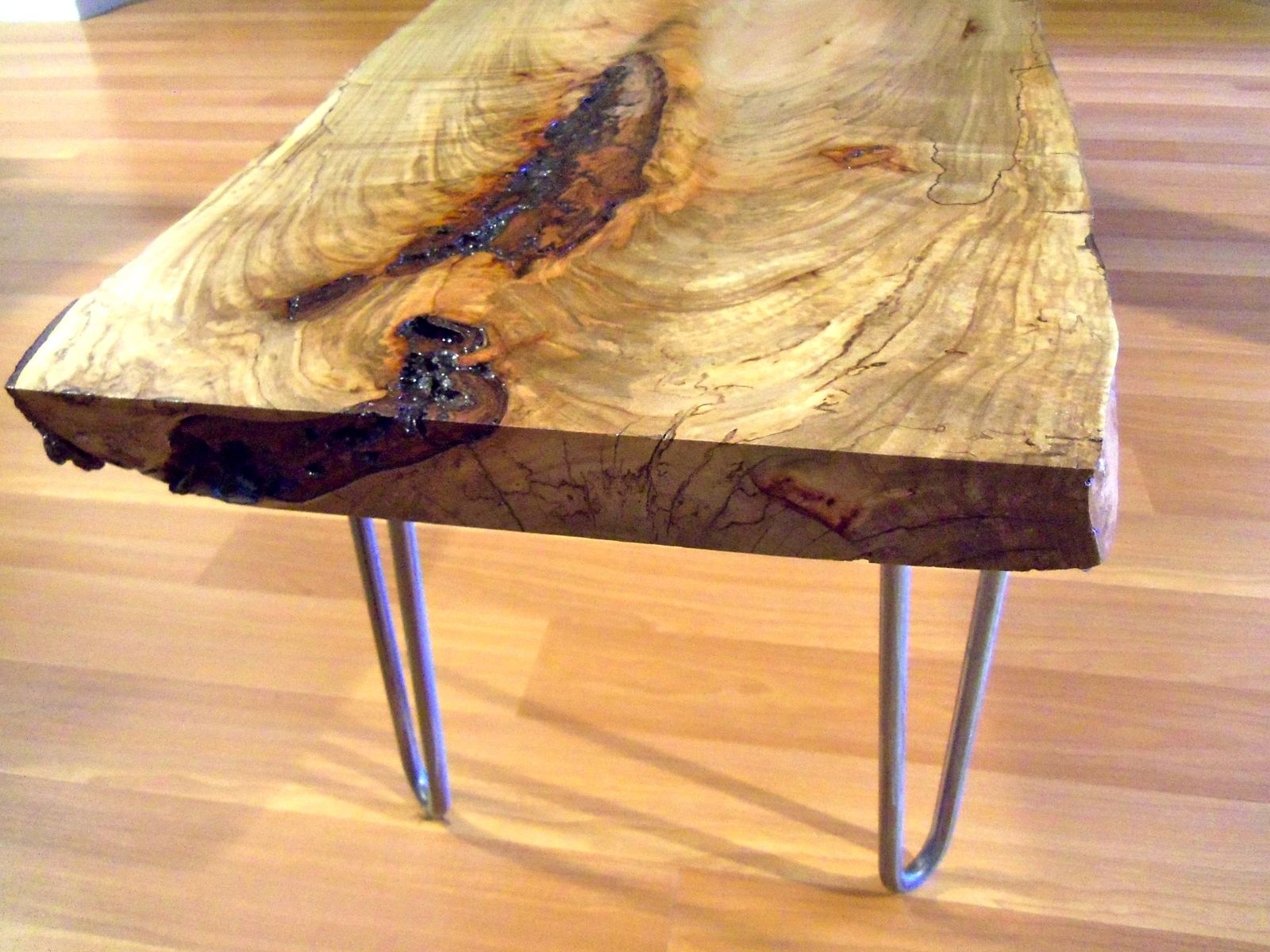 Custom Live Edge Maple Coffee Table By Ozma Design Custommade Com