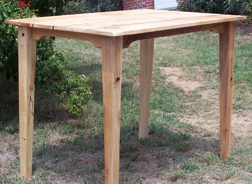 Custom Made Bar Height Breakfast Table Made From Reclaimed Maple