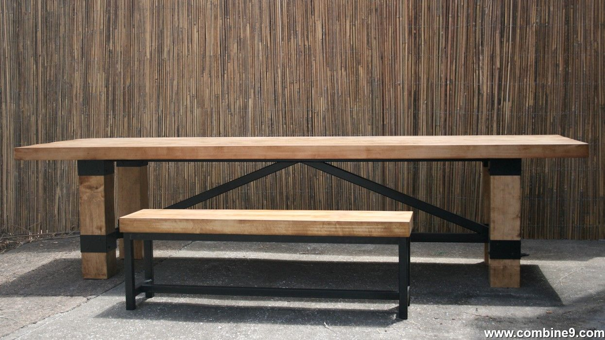Buy a Custom Made Rustic Industrial Conference Table. Modern ...
