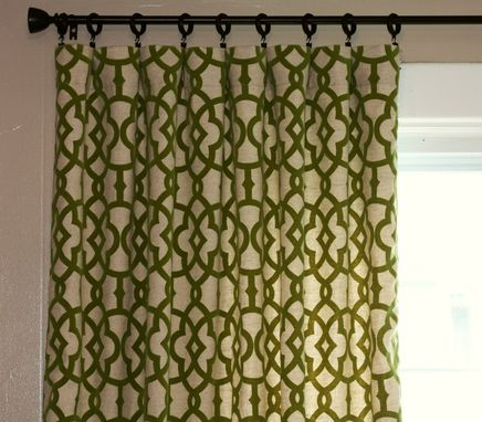 Custom Made Magnolia Emory Geometric Lattice Trellis Fretwork Custom Curtains Brown Chocolate 108l X 50w Panels