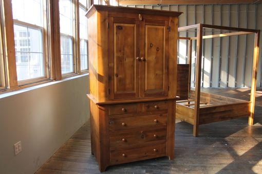 Custom Made Custom Armoire From Reclaimed Wood With Recessed Panels
