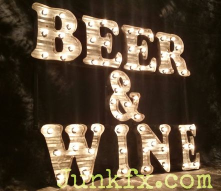 Custom Made Marquee Beer & Wine Sign