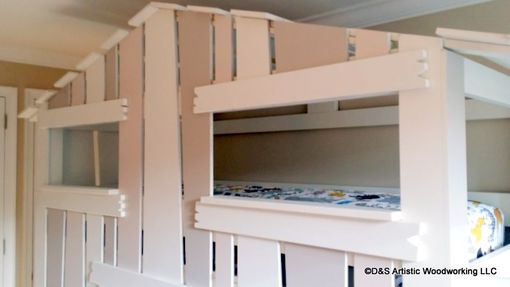 Custom Made Children's House Bunk Bed