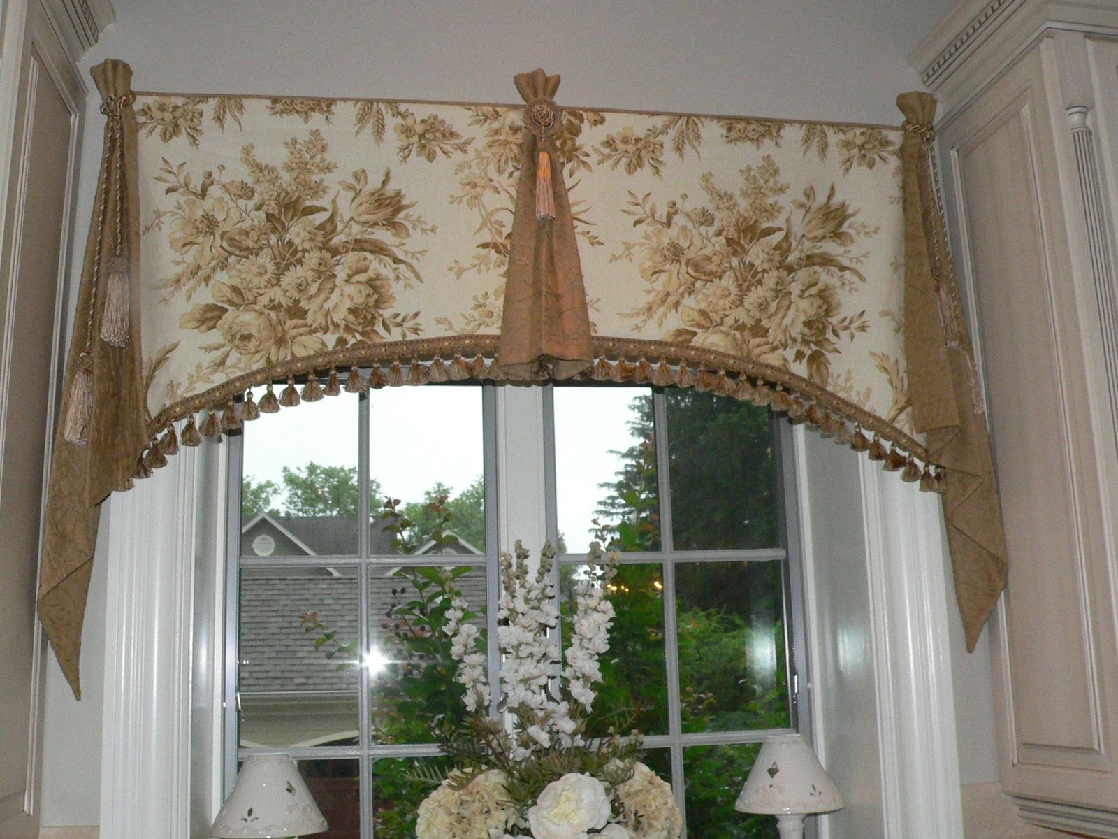 Custom elegant window valance by caty 39 s cribs for Window valance