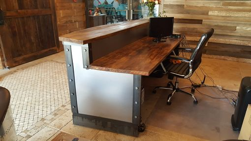 Custom Made Modern Metal Industrial Reception Desk