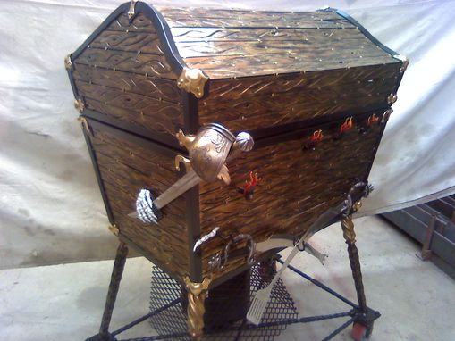 Custom Made Pirate Treasure Chest Bbq Grill