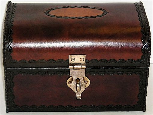 Custom Made Small Leather Covered Chest