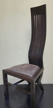 Custom Made Chair Made Of Exotic Hardwood. (Wenge)