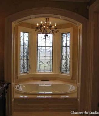 Custom Made Leaded Glass Windows Installed For Privacy In An Ensuite Bathroom..