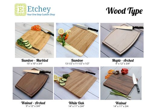 Custom Made Personalized Cutting Board, Engraved Cutting Board, Custom Wedding Gift --Cb-Wo-Graingers