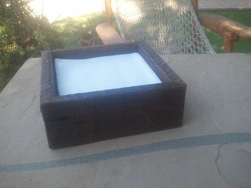 Custom Made Simple Wooden Napkin Holder