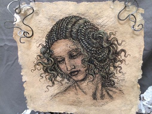 Custom Made Ink Portrait On Handmade Paper