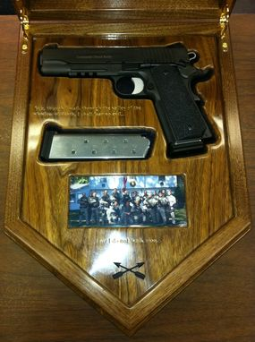 Hand Crafted Special Operations Group Swat Gun Box By
