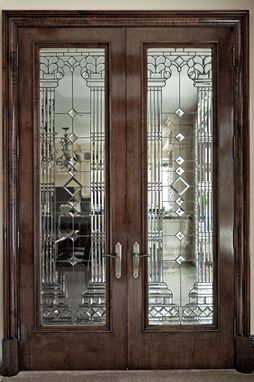 Custom Made Leaded And Stained Glass Interior Door Projects.