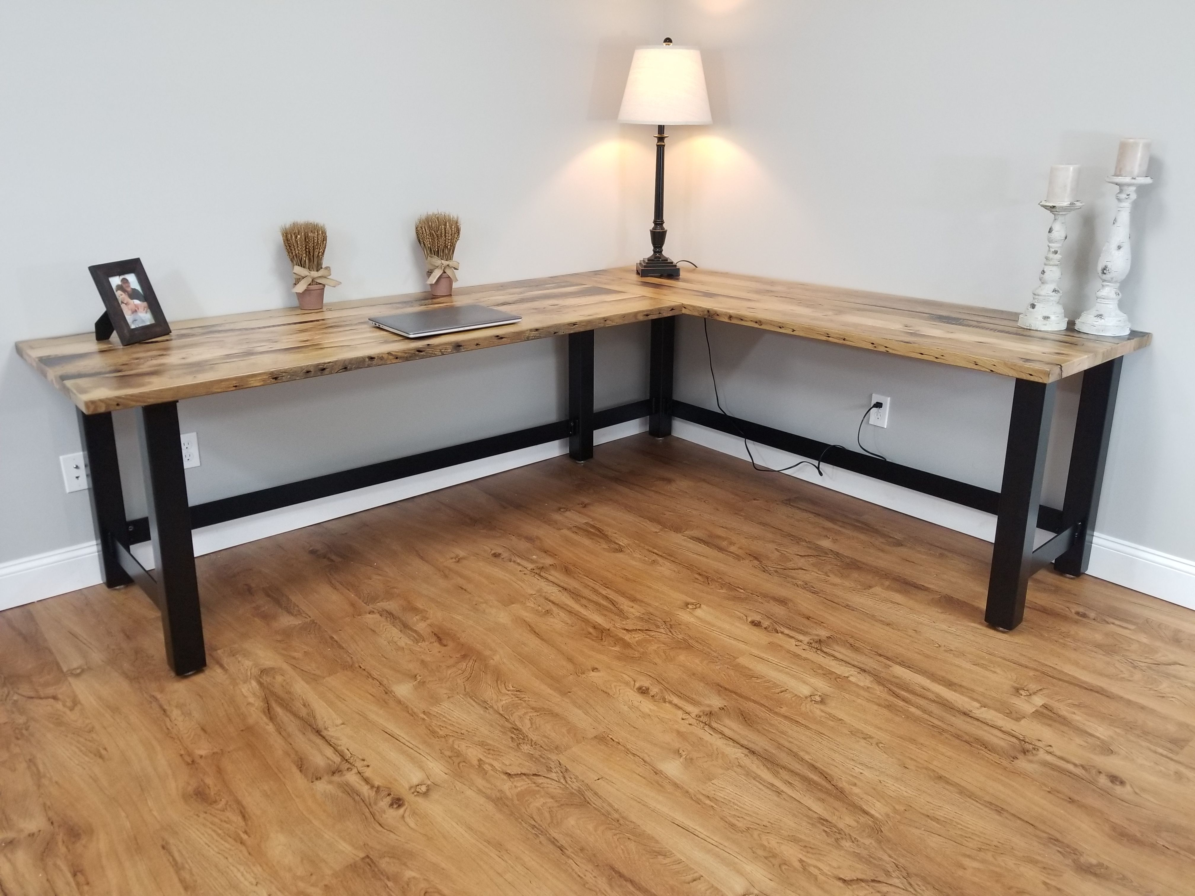 Hand Crafted Reclaimed Wood Office Desk